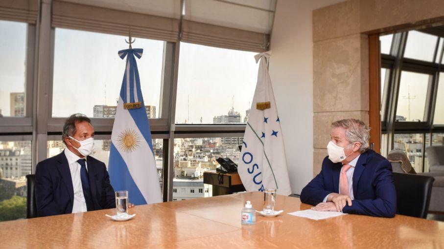 Solá recibió a Daniel Scioli y a Guillermo Hunt, el nuevo embajador argentino en Japón