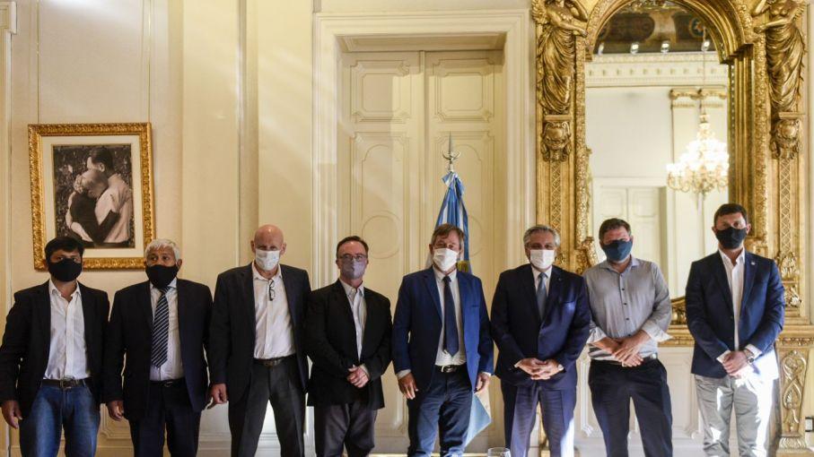 El Presidente recibió a los intendentes de la Comarca Andina