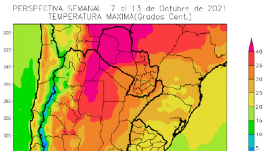 Perspectiva agroclimática semanal Argentina
